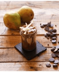 "Charlotte poire chocolat ""in a jar"""
